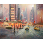 Yellow Cabs by David Farren - art