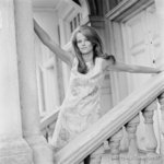 Charlotte Rampling standing outside (medium) by Philip Townsend - art