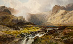 Idwal From Ben Glog, 1876 Fine Art Print by William Beattie Brown